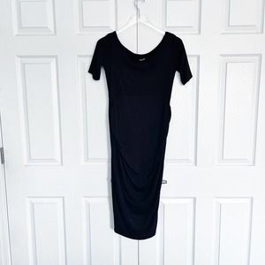 ASOS Black Bodycon Ruched Dress